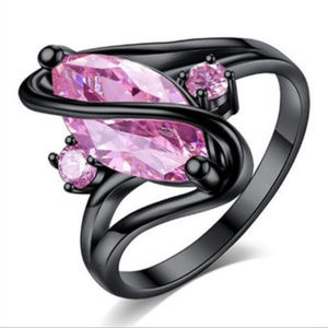 """Jewelry - 18K Black Gold Plated Pink """"Swirl"""" Ring 💓"""